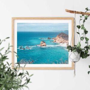 Machalilla Coastline print in frama